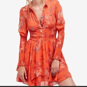 Free People Peasant Fit Flare dress